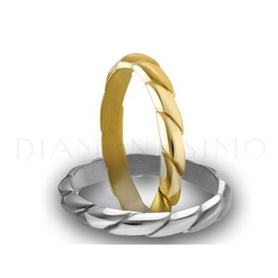 Alianza de boda original oro amarillo o blanco