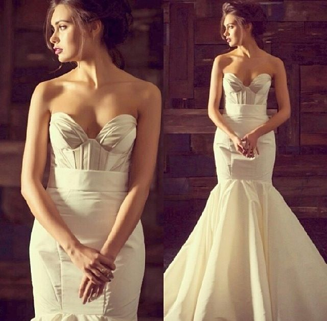 Structured wedding dress