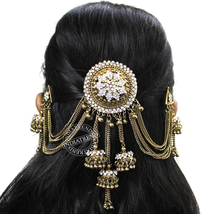 Our AATIKAH  Hair Bun Pin  by Indiatrend. Shop Now at WWW.INDIATRENDSHOP.COM