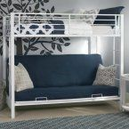 Sunrise Twin over Futon Bunk Bed - White - Bunk Beds & Loft Beds at Hayneedle