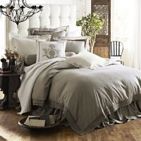 Theresa Flax Lace Bedding and Emily Diamond Quilted Collection