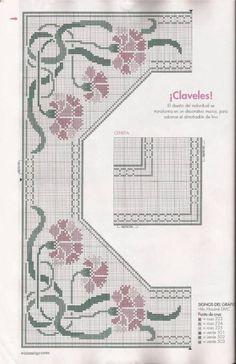 σχέδια με λουλούδια και πεταλούδες για κέντημα    πηγή/ source             Κάντε κλικ εδώ  για να δείτε κι άλλα σχέδια με γαρύφαλλα.   Clic...