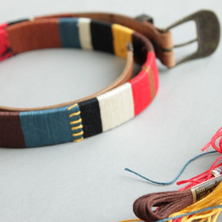 Une ceinture esprit navajo avec du fil à broder - DIY bembroided belt - Marie Claire Idées