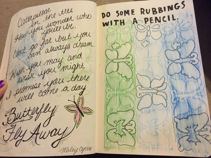 Do some rubbings with a pencil wreck this journal