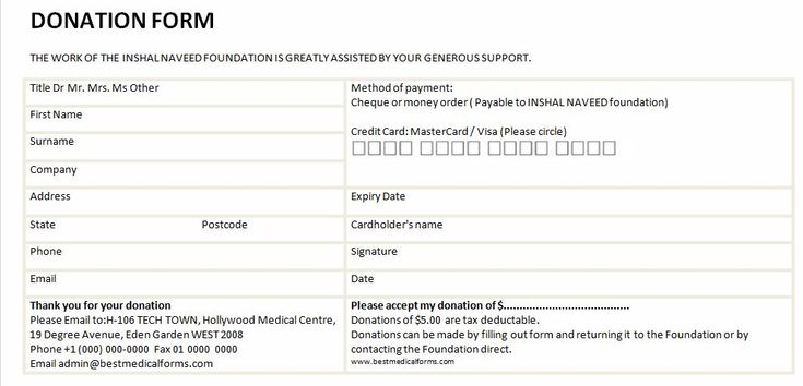 donation form template - Google Search Theatre skin flick - donation form templates