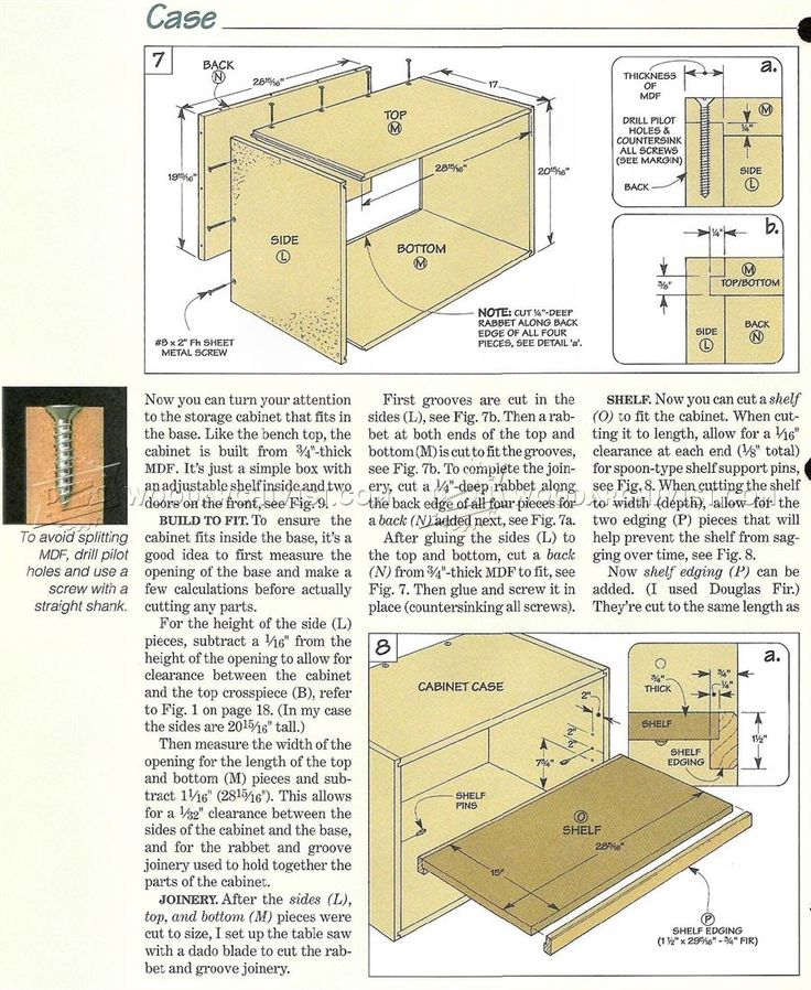 #3058 Small Workbench Plans - Workshop Solutions