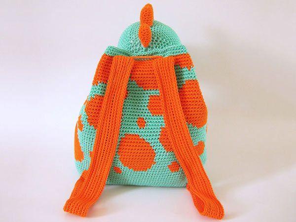 Dino Backpack crochet pattern - Allcrochetpatterns.net