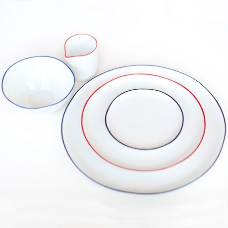 these must be mine. I've found my perfect dishes. -poketo Abbesses Ceramic Set- blue or red