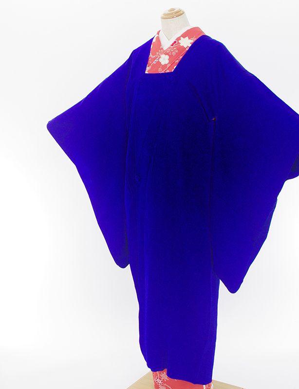 「アンティーク ロング道行コート 鮮やかなブルー」の商品画像