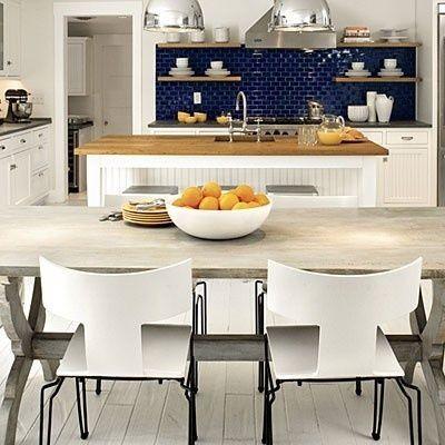 navy blue backsplash | Navy blue tile backsplash | Kitchen