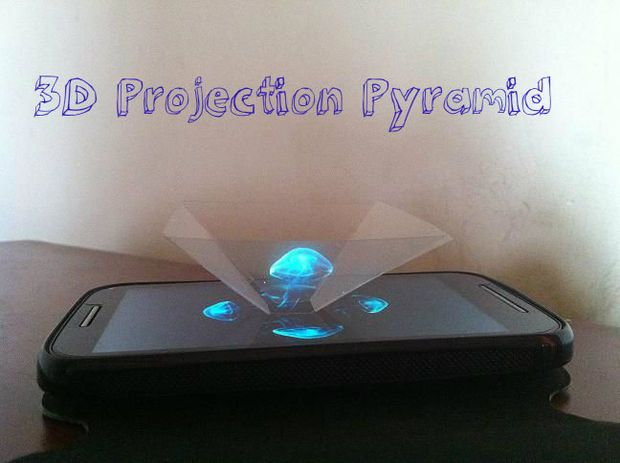 Picture of Amazing 3D Projection Pyramid in 10 min from Clear Plastic Sheet !