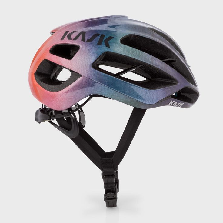 - Paul Smith + Kask Protone Cycling Helmet with a multi-coloured gradient. Designed with the help of the decorated cycling team, Team Sky, this helmet is designed with a focus on performance, lightness and above all, safety. - Made in Italy, this helmet