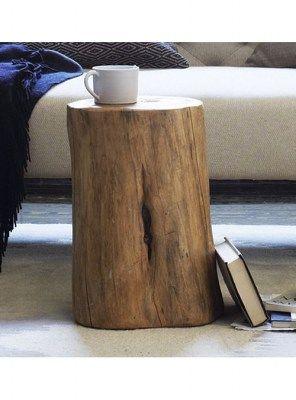 tavolino tronco legno