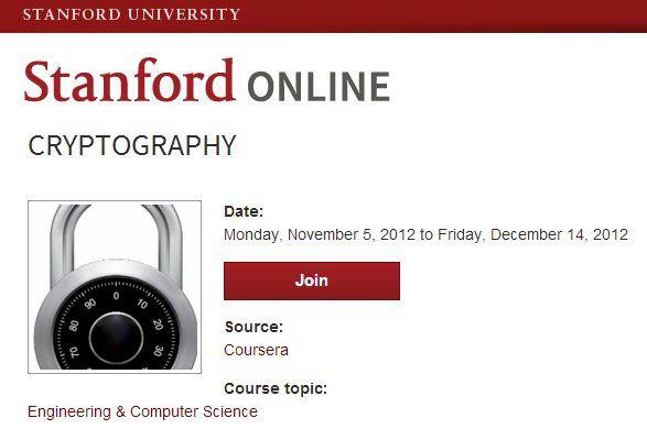 Curso online gratuito de Criptografía en la Universidad de Stanford