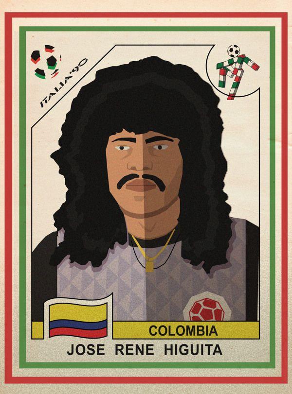 colombia style italia 90 - jose rene higuita