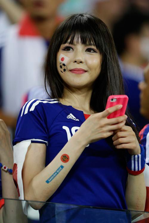 日本美女サポーター(高須力氏撮影) ▼20Jun2014日刊スポーツ|写真特集 http://www.nikkansports.com/brazil2014/photogallery/bijo/f-sc-tp0-20140620-1320892.html #Japan_Greece_group_C #Brazil2014