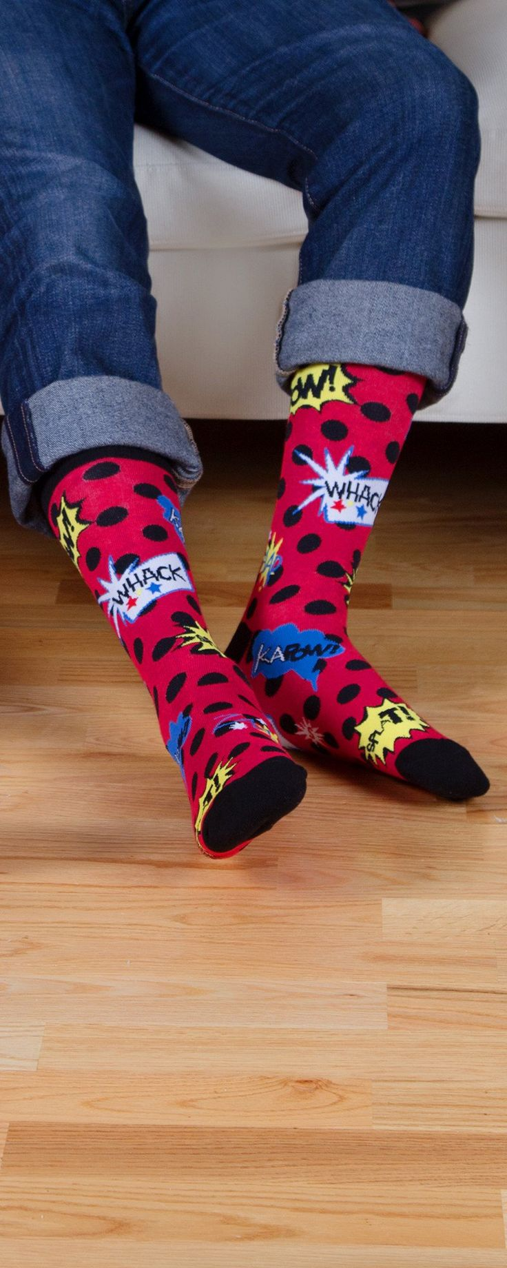 From flying cats to bacon, these quirky socks are sure to grab attention. Discovered by The Grommet, they are soft, stretchy, and packed full of personality.