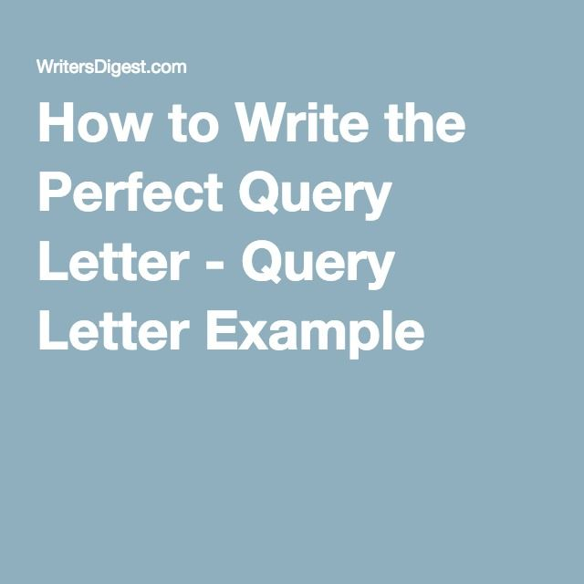 writing a query letter for an article