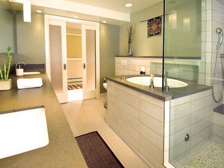 Fine Contemprorary Bathroom bathroom designs contemporary with fine contemporary bathroom design ideas home design custom Double Pocket Door To Bathroom