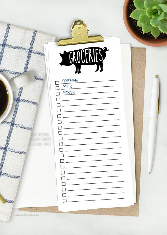 Sometimes lists are my only saving grace! This printable grocery list isn't…