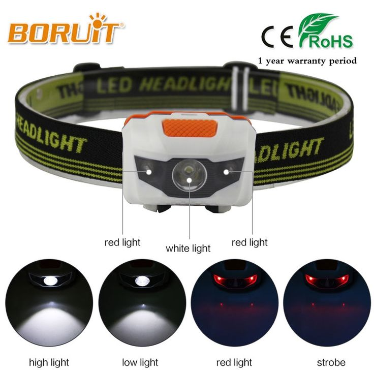 BORUIT Mini Head Lamp 4 Modes 600Lm R3+2 LED Flashlight Super Bright Headlight Headlamp Torch Lanterna with Headband Use 3AAA