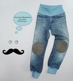 Kinderhose aus alter Hose nähen Verwendung Schwangerschaftshosen!!!