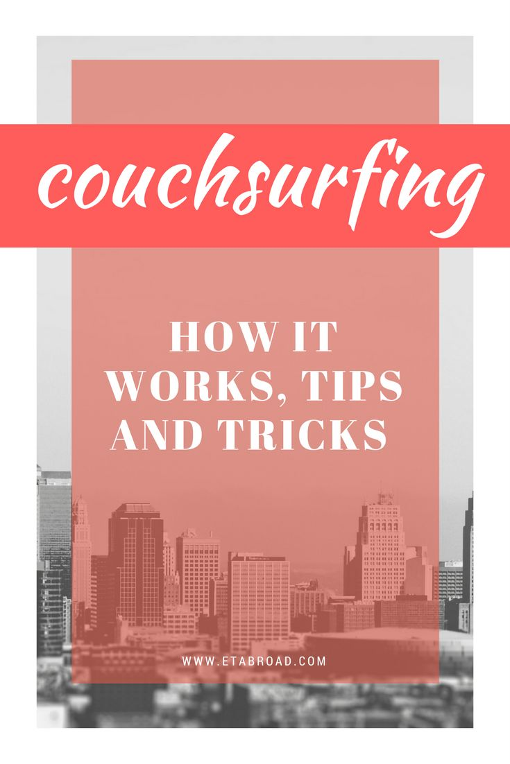 CouchSurfing is a social network that allows its members to stay for free almost anywhere. We´ve put together the most important tips on what to beware.