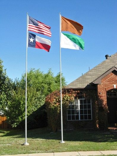 Sometimes just one #flagpole isn't enough. 2 flag poles and 4 flags! #america Made in the USA!