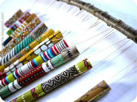 How To Make wind chimes | Dollar Store Crafts » Blog Archive » Make Bamboo Wind Chimes