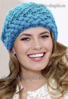 Теплая зимняя шапка крючком