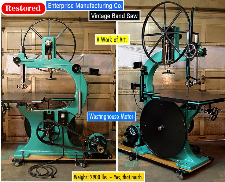 Restored Enterprise Co . Manufacturing Vintage #Band #Saw