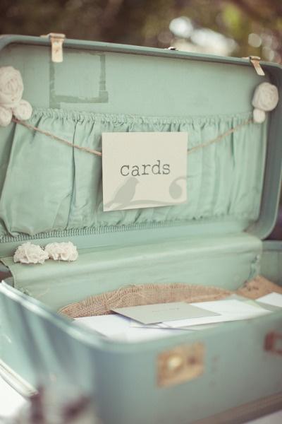 Rancho Del Cielo Wedding By Erich Chen Photography Suitcase Card BoxWedding