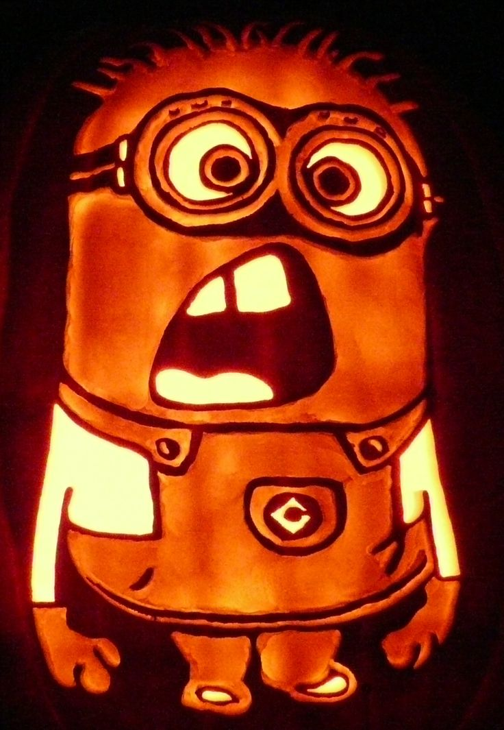 Carved pumpkin here s my latest despicable me minion