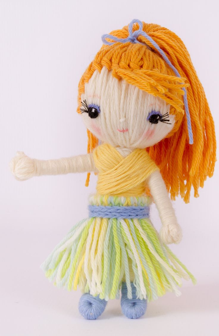 "Thumbelina from ""Yarn Whirled: Fairy Tales, Fables, and Folklore""."