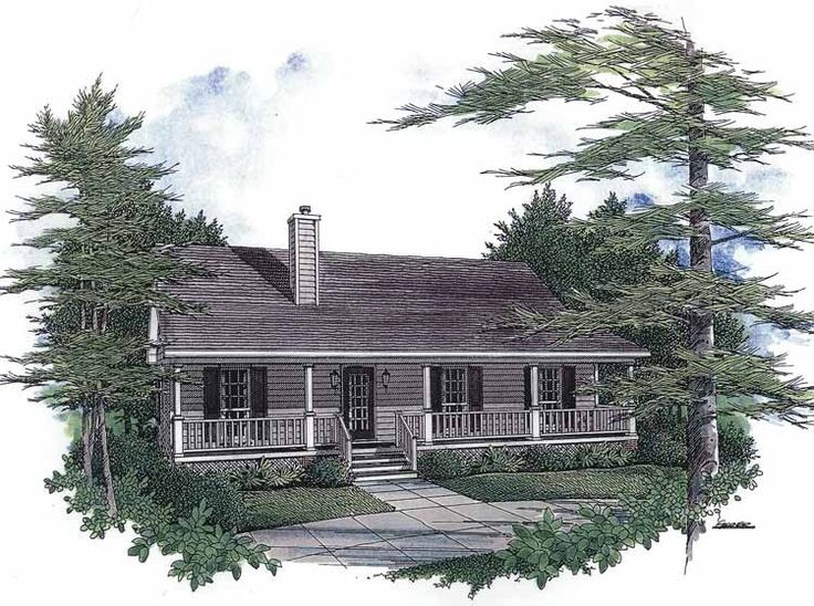Eplans Farmhouse House Plan Shingled Ranch With Front