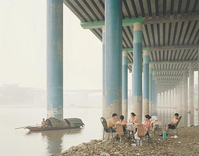 Nadav Kander, Chongqing IV (Sunday Picnic), Chongqing Municipality by drollgirl, via Flickr