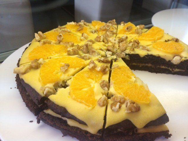 paleo narancsos-diós csokitorta