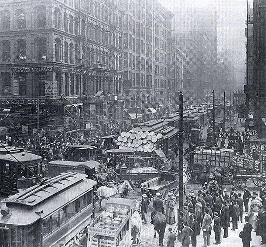 Rush Hour, New York City, 1909