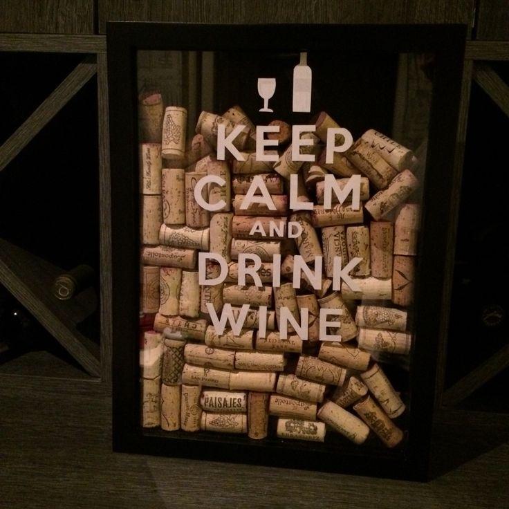 Cuadro con corchos de vino que he tomado