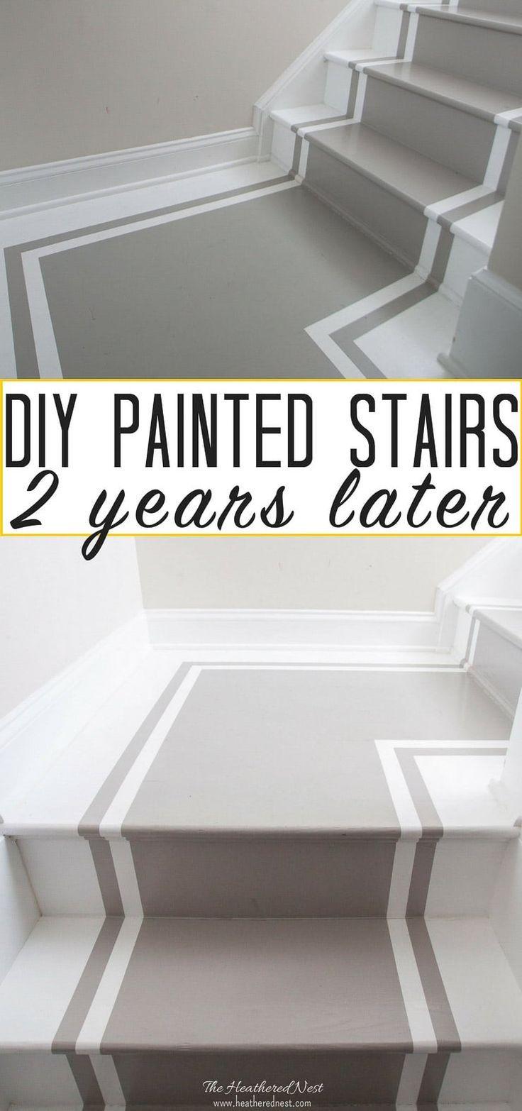 Prós e contras das escadas pintadas: como elas se sustentam ao longo dos anos?   – DIY Home Decor, Decorating Tips & Home Improvement Projects