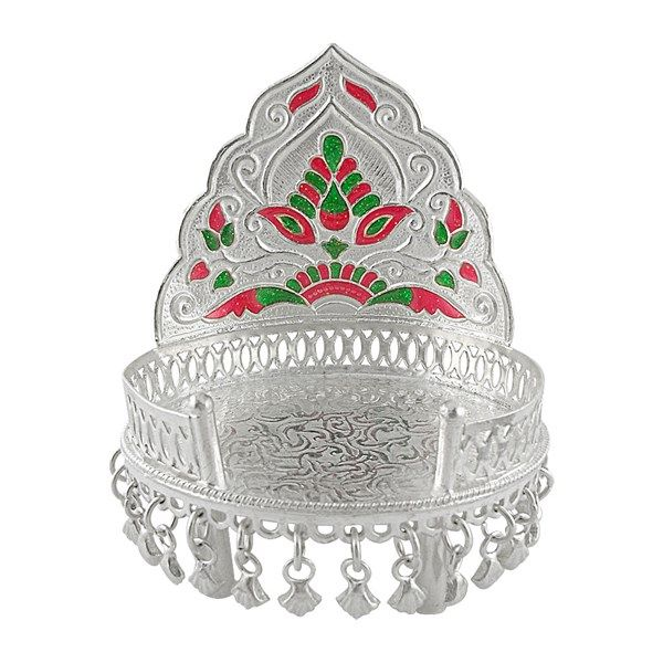 Jpearls Pure Silver Sinhasan in 50 Grams | Pure Silver Devotional Accessories