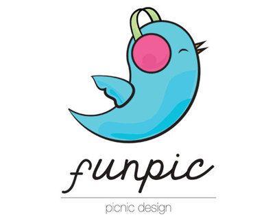 Manual de identidade visual elaborado para a logo da Funpic.
