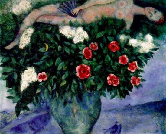 Marc Chagall. The Woman and the Roses, 1929