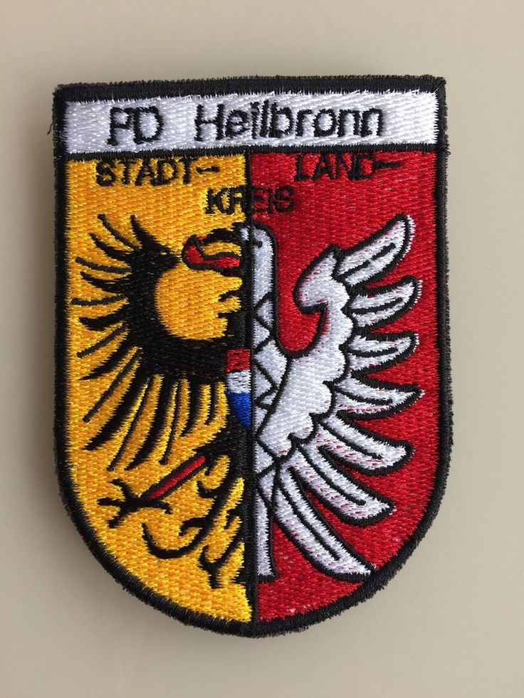 Patch Polizeipräsidium Heilbronn Germany Deutschland Polizei Original New Rarity