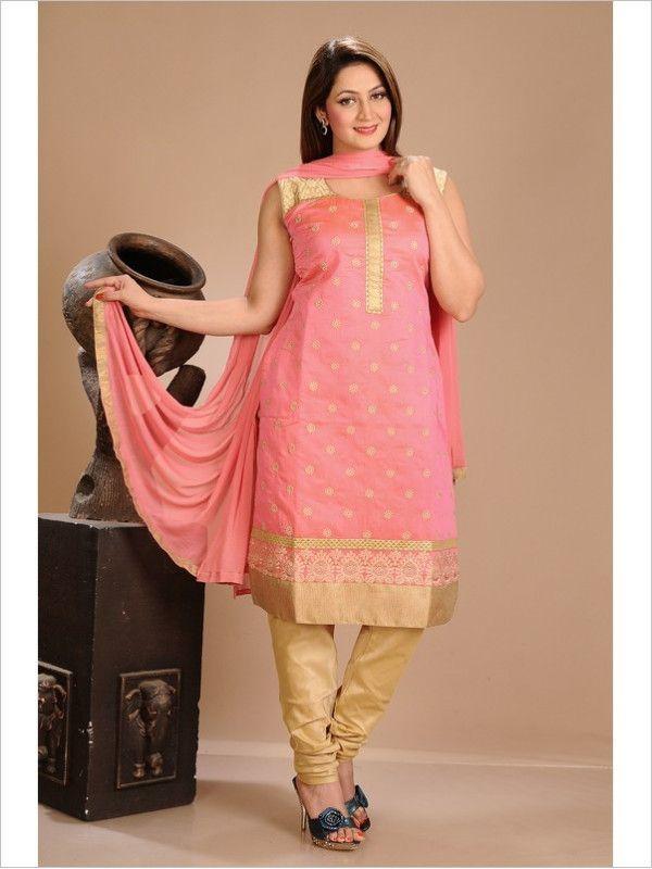 Pink Formal Art Silk Suit