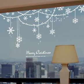 Snowflake Solid Decoration Christmas Window Sticker: Amazon.ca: Baby More