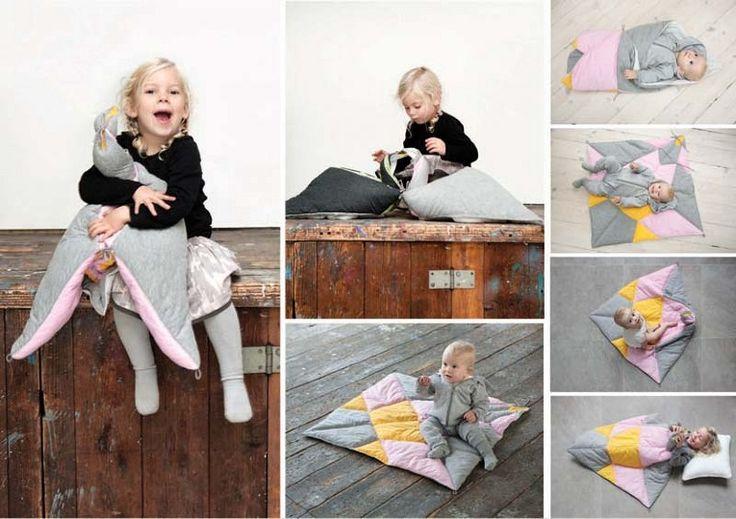 FABELAB - play fold bird - patchwork baby blanket