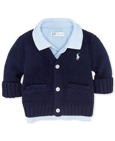 @Leigh Boshold Landman Gray @Elizabeth Lockhart Barfield Ralph Lauren Baby Sweater, Baby Boys Icon Cardigan