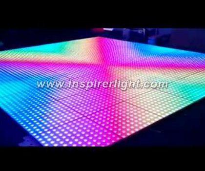 Digital LED dancing illuminated floor