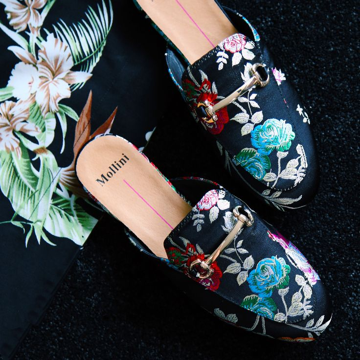 Embroidery is back in a big way and the Mollini Shoes 'Gracelee' mules are having their moment! The must-have fashion trend of the summer, we love how embroidered details take your outfit to maximum cuteness. With a floral inspired upper featuring horse-bit trim for added luxe style, the 'Gracelee' mules will be the chicest part of your shoe collection. Shop: https://www.shoeconnection.co.nz/womens/shoes/flats/mollini-gracelee-embroidered-mule?c=Black%20Jacquard